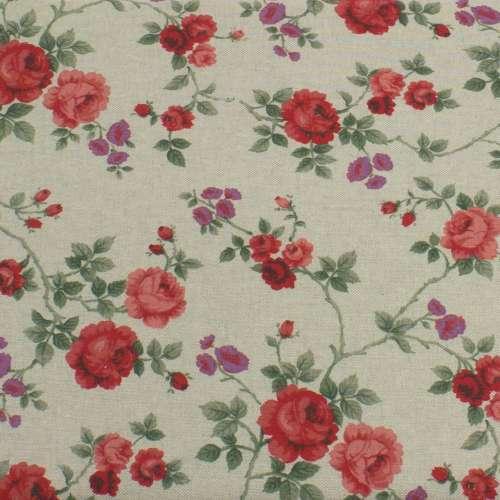 Tessuto Rose rosso H. 280 cm.