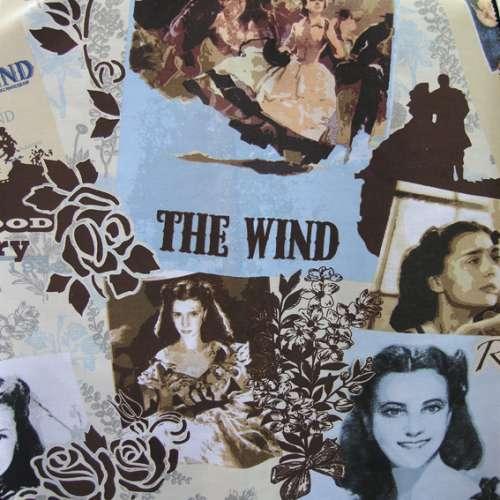 Tessuto Via col vento H. 280 cm.